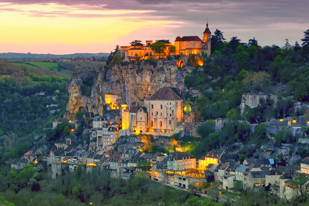 Village pittoresque de Rocamadour.