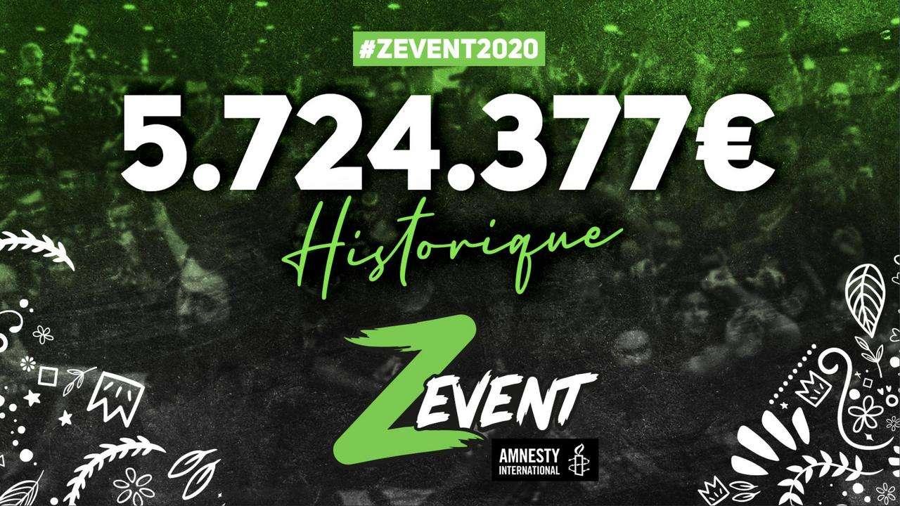 5,7 millions d'euros pour le Z Event 2020 !